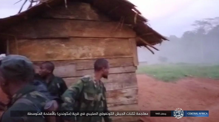 ISIS operatives attacking Congolese army camps in Makundi (Telegram, April 25, 2021)