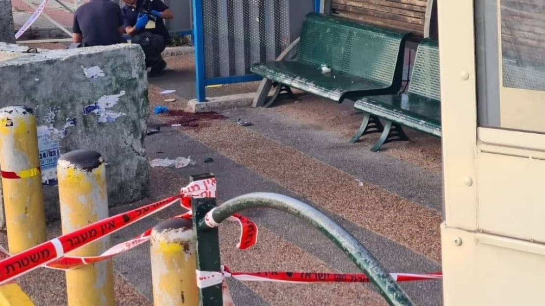 The scene of the shooting attack at the Tapuah Junction (QudsN Facebook page, May 2, 2021)
