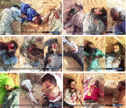 Photos of the dead Azawad Liberation Movement operatives published by ISIS.
