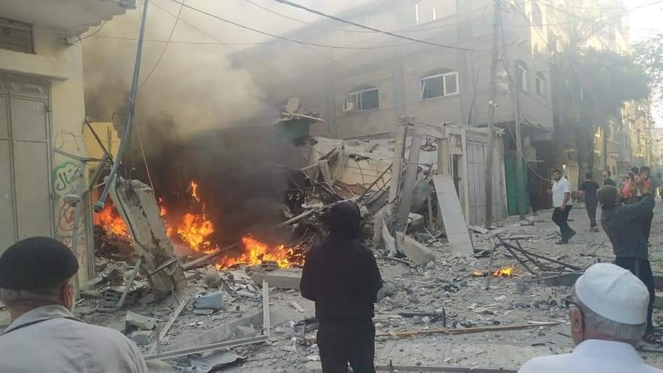 Jabalia refugee camp after IDF attack (Palinfo Twitter account, May 12, 2021).