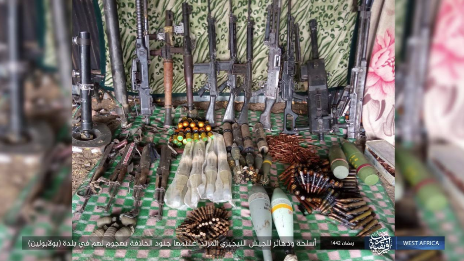 Weapons and ammunition seized by ISIS operatives (Telegram, May 8, 2021)