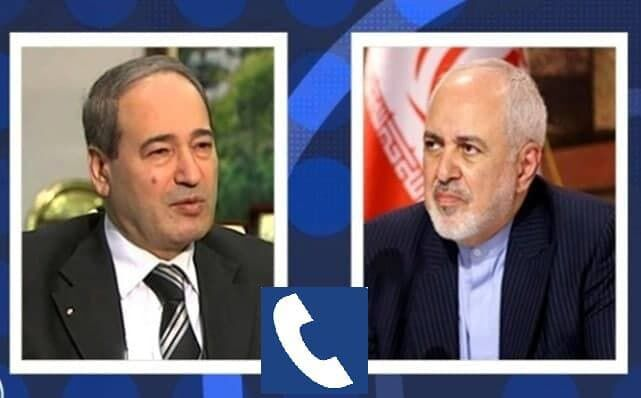 A phone call between the Iranian and Syrian ministers of foreign affairs. (IRNA, May 5)