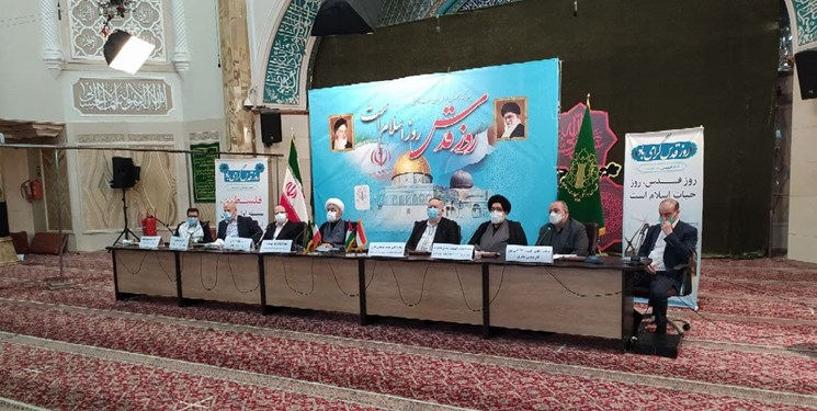 """The conference titled """"the liberation of al-Qods is near."""" (Fars, May 6)"""