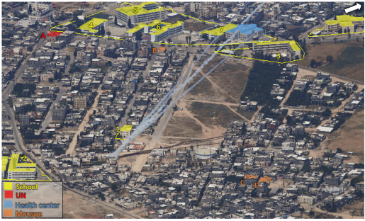 Rocket fire from within populated areas of Gaza City (IDF spokesman, May 19, 2021).