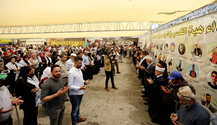 The Fatah movement in Ramallah opened a mourning tent to commemorate the Palestinians killed in the Gaza Strip, Jerusalem, Judea and Samaria (Wafa, May 25, 2021).