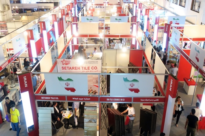 The Iranian booth in the 60th International Trade Fair held in Damascus in September 2018. (IRNA, September 2, 2018)