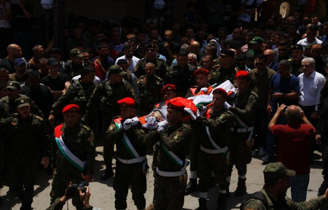 The funeral held for Taysir al-Issa in Sanur, south of Jenin (Wafa, June 10, 2021.