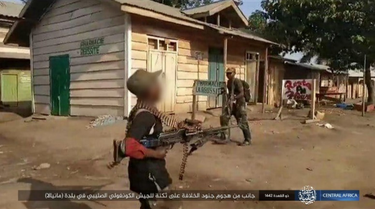 ISIS operatives during the attack on the Congolese army camp.