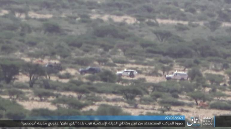 ISIS operatives following the convoy.