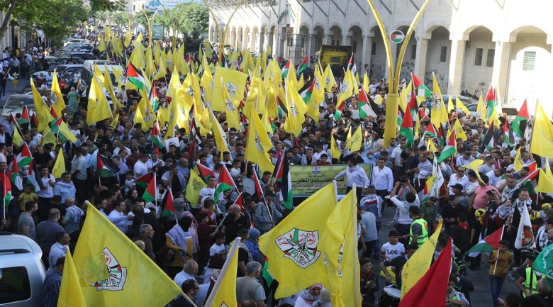 Demonstrations in support of Mahmoud Abbas, organized by Fatah in Hebron (right) and Bethlehem (left) (Wafa, July 3, 2021).