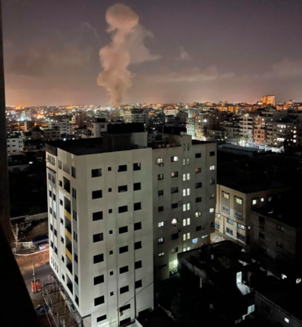 IDF attack following the launching of an incendiary balloon (QudsN Facebook page, July 3, 2021).
