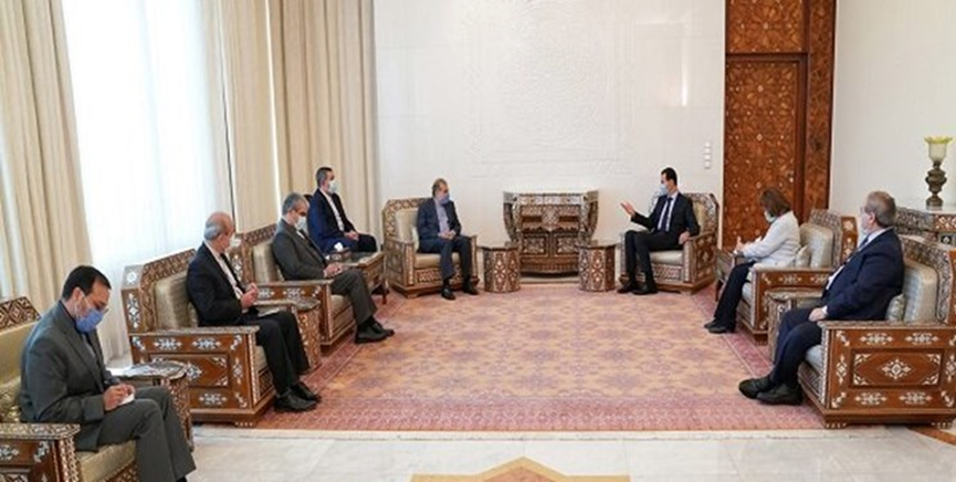 The meeting between President Assad and the senior adviser to the Iranian minister of foreign affairs. (Fars, June 28)