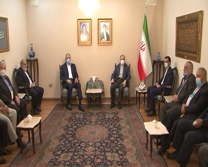 The meeting between the Iranian ambassador to Damascus with the heads of the Palestinian factions. (al-Ahed, July 2)
