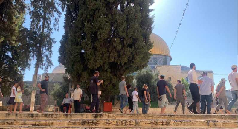 The Palestinian media gave extensive coverage to the entrance of Jewish visitors on the Temple Mount (Wafa, July 18, 2021).