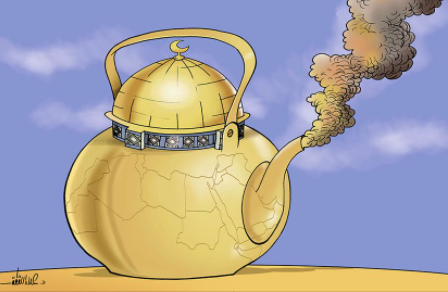 The Temple Mount about to boil over (Alaa' al-Laqta's Facebook page, July 18, 2021).