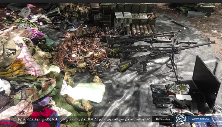 Weapons and ammunition seized by ISIS operatives (Telegram, July 17, 2021).