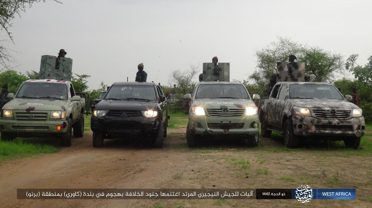 Vehicles seized by ISIS operatives (Telegram, July 17, 2021)