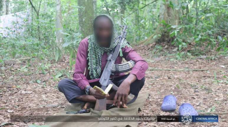 ISIS operative in the Congo praying.