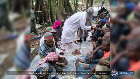 ISIS operatives eating the holiday meal (Telegram, July 23, 2021).