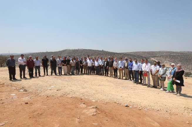 The European delegation at Bayta (Twitter account of the British consulate in Jerusalem, August 5, 2021).
