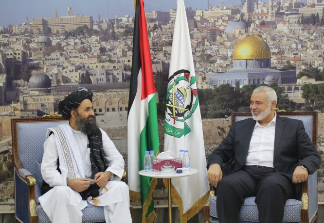 Official pictures of the Hamas and Taliban leaderships, May 2021 (Hamas website in Arabic, August 17, 2021).