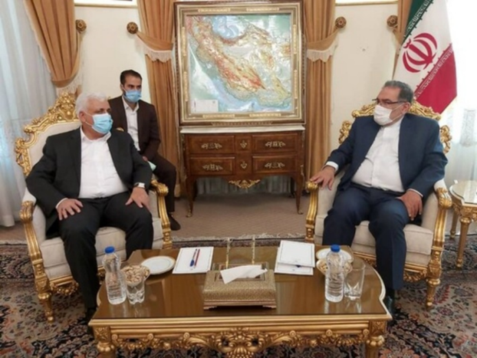 The meeting of the secretary of the Iranian Supreme National Security Council with the commander of the Popular Mobilization Units. (ILNA, August 7)
