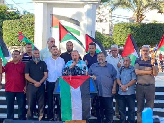 Press conference held to announce the rally (Safa website, August 18, 2021).
