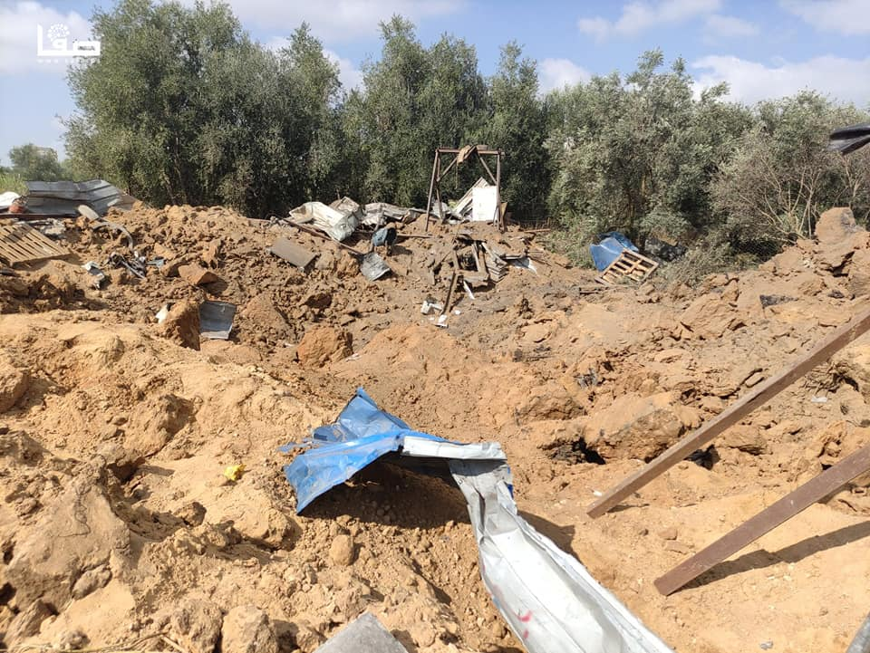Site attacked by the IDF (Safa Facebook page, August 29, 2021).