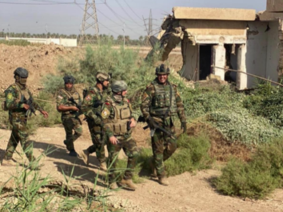 Iraqi army forces north of Baghdad (Yahya Rasoul's Twitter account, August 27, 2021).