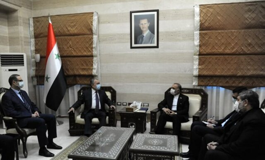 The meeting held in Damascus between the Syrian prime minister and Iranian minister of foreign affairs. (ISNA, August 22)