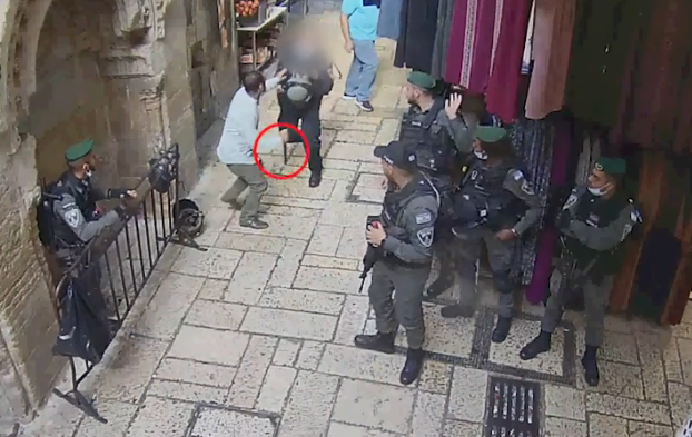 CCTV documentation of the stabbing attack