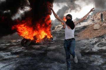 Palestinians riot in Jabal Sabih (near the Eviatar outpost, south of Nablus) (Palinfo Twitter account, September 10, 2021).
