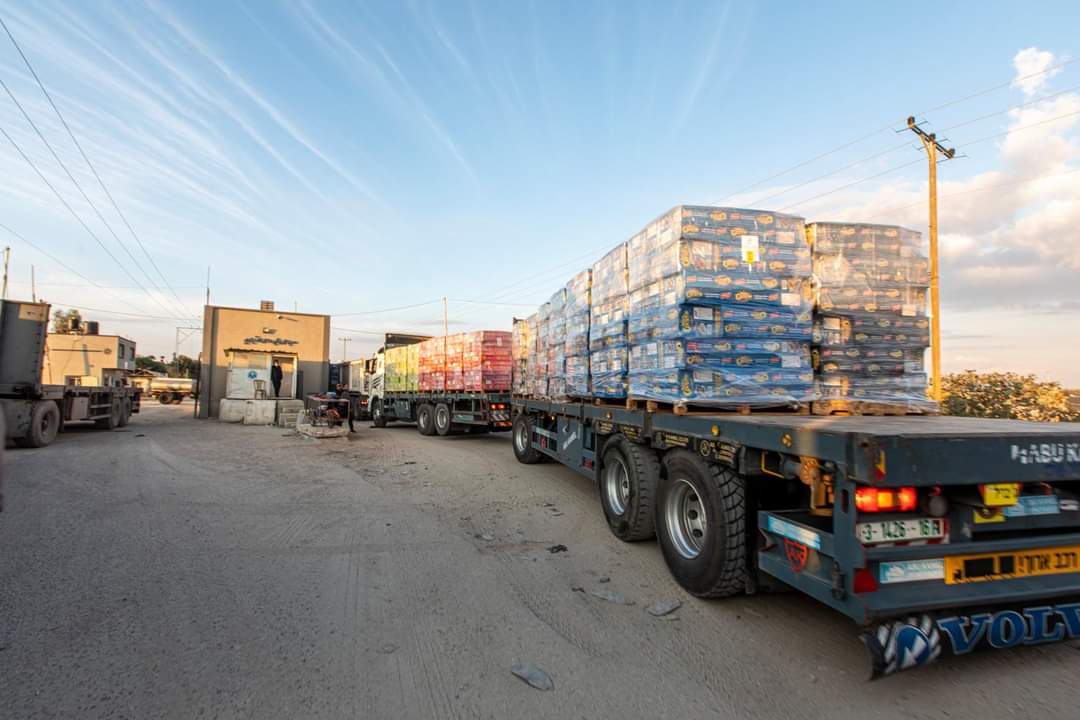 Potato snacks for Judea and Samaria exported from the Gaza Strip through the Kerem Shalom Crossing (Twitter account of journalist Hassan Aslih, September 9, 2021).