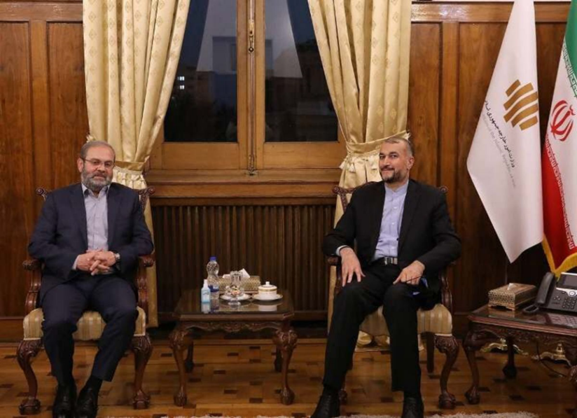 The meeting between Hezbollah's emissary and the Iranian minister of foreign affairs. (IRNA, September 15)