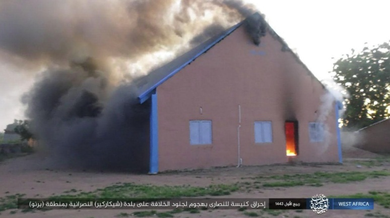 Churches set on fire by ISIS (Telegram, October 6, 2021)